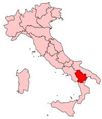 Italy Regions Basilicata Map