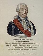 Velyn - Louis-Philippe de Ségur, comte de l'Empire, né le 10 septembre 1753 à Paris