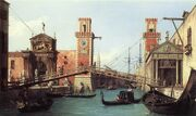 View of the entrance to the Arsenal by Canaletto, 1732