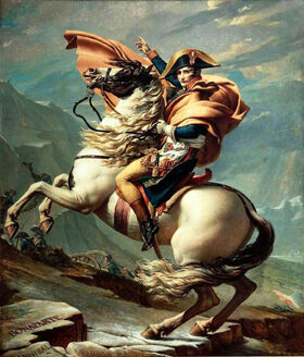 David - Napoleon crossing the Alps - Malmaison1