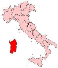 Italy Regions Sardinia Map