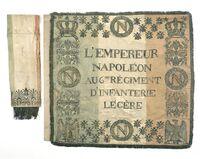 Drapeau du 6e régiment d'infanterie légère, modèle 1812 (avers)
