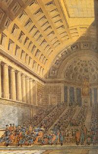 Intérieur de la salle du Conseil des Cinq-Cents