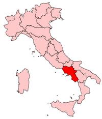 Italy Regions Campania Map