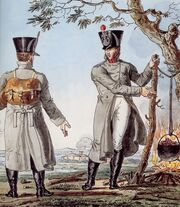 Grande Armée - Light Infantry Officers in Greatcoats
