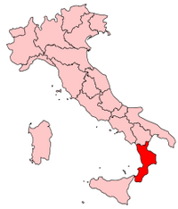 Italy Regions Calabria Map