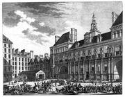 Berthault - Das Volk von Paris vor dem Rathaus