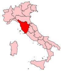 Italy Regions Tuscany Map