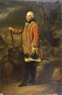 18th century portrait painting of Charles de Rohan, Prince of Soubise, Duke of Rohan-Rohan, Marshal of France by an unknown artist