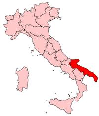 Italy Regions Apulia Map