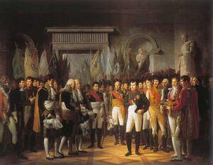Berthon - Napoléon Ier reçoit au Palais Royal de Berlin, les députés du Sénat français, le 19 novembre 1806