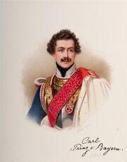 Eduard de Ron - Prinz Carl Theodor von Bayern, 1843