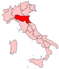 Italy Regions Emilia-Romagna Map