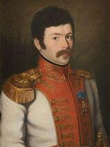 Portrait d'un officier subalterne du 1er régiment de vélites de la Garde Royale napolitaine, portant l'étoile de l'Ordre royal des Deux Siciles