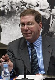 Bernard Stirn, chairman of the Paris Opera's board attends a press conference, 09 March 2004 in Paris.
