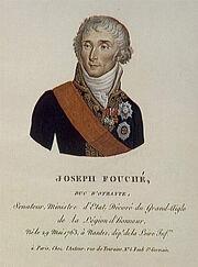 Eymar - Joseph Fouché, duc d'Otrante, né le 29 mai 1763 à Nantes