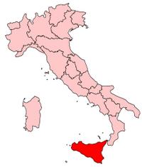 Italy Regions Sicily Map