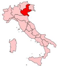 Italy Regions Veneto Map