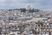 Butte Montmartre from centre Pompidou