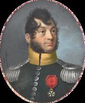 Portrait du colonel Baron Maulnoir Étienne Louis au 19e régiment de chasseurs à cheval de 1809 à 1811