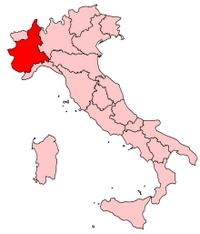 Italy Regions Piedmont Map
