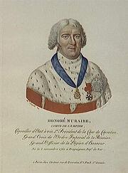 Eymar - Honoré Muraire, comte de l'Empire, né le 5 novembre 1750 à Draguignan