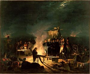 Napoleon bivouac Wagram