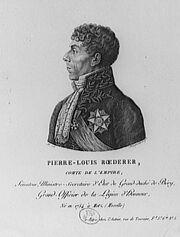 Pierre Louis, comte Roederer (1754-1835)