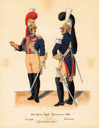 1830 - GARDE ROYALE - GENDARMERIE D'ELITE