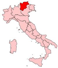 Italy Regions Trentino Map