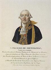 Velyn - N-François de Neufchateau, comte de l'Empire, né le 17 avril 1750 à Neufchateau.