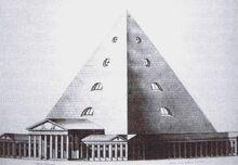 Projet de Palais des Sciences et des Arts à Amsterdam (projet d'Abraham Van der Hart en 1809)
