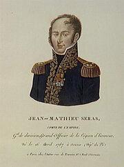 Delvaux - Jean-Mathieu Séras, comte de l'Empire, né le 16 avril 1767 à Osasio