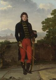 Gauffier - Portrait of an officer, Général Jean-Claude Moreau, in uniform, on a terrace, a view of Florence beyond