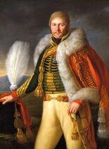 Rolland, Portrait du baron Louis Bernard Francq en uniforme de chasseur à cheval de la garde Impériale
