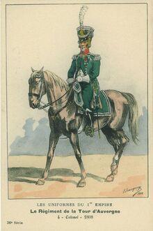 Bucquoy Les Uniformes du Ier Empire 1910 - Le régiment de La Tour d'Auvergne Colonel 1808