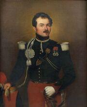 Portrait de Charles Gabriel César Comte Gudin, lieutenant-colonel du 7e régiment de chasseurs à cheval de 1834 à 1839