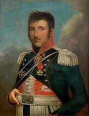 Portrait d'un officier du 1er régiment de chasseurs à cheval attribué au colonel Merda dit Méda