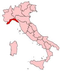 Italy Regions Liguria Map