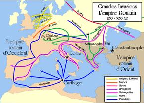 Grandes Invasions Empire romain