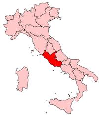 Italy Regions Latium Map
