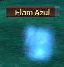Flam azul