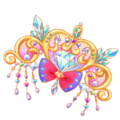 Heart crystal jewel