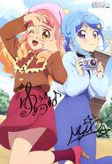 Aikatsu Friends! Poster Animedia February 2019