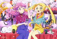Aikatsu Friends! Poster Animedia March 2019
