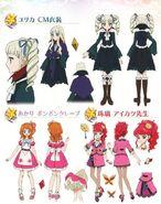 Yurika CM, Akari ponpon crepe, Aikatsu Teacher designs