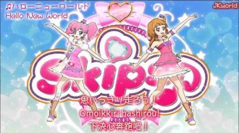 【HD】Aikatsu! - Hello New World(ハローニューワールド) lyrics【中字】
