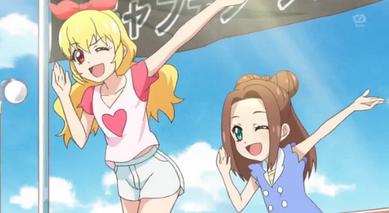Ichigo und Rion tanzen