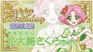 Happy Brithday Sakura Aikatsu Cafe Namco