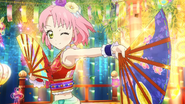 Сакура с веером